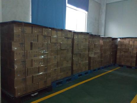 塑料托盘在食品厂仓库使用